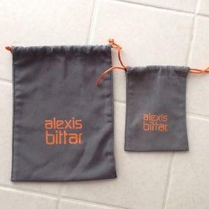 ALEXIS BITTAR FELT JEWELRY BAGS